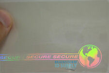 Secure w/ Web & Earth ID Card Hologram Overlays for Teslin/PVC - 100 pack