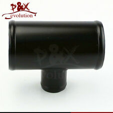"2.5"" T-Pipe Aluminum Piping 63mm T Piece Shape Tube Pipe for 35mm OD Black"