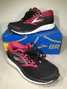 Brooks Addiction 13 Women's Size 7.5 2A Black/Pink Running Shoes X6-899