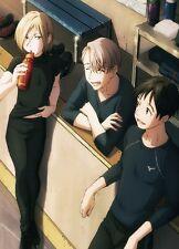 "YURI!!! on ICE Victor Nikiforov Yuri Katsuki Yuri Plisetsky Anime Poster 11x17"""