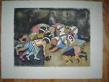 "GRACIELA RODO BOULANGER -Vintage Original Etching ""Football"" - Signed & Numbered"
