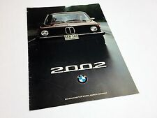 1975 BMW 02 Series 2002 Preview Brochure