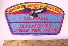 BSA Ventura County Council Calif  1989  Longleat Park, England Patch