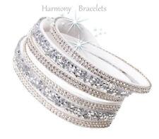 White Swarovski Elements Wrap Glamour Bracelet by Harmony Bracelets