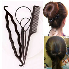 New 4Pcs/set Hair Twist Styling Clip Stick Bun Maker Braid Tool Hair Accessories
