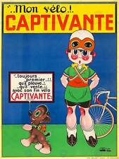 Annuncio trasporto bicicletta captivante DOG RAGAZZA BIKE FRANCE poster stampa bb8019b