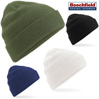 Beechfield Organic Cotton Beanie (B50) - Unisex Cotton Casual Winter Hat