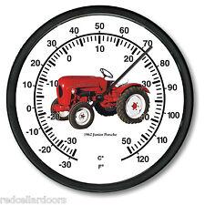 "New PORSCHE JR Tractor Thermometer 10"" Round 1962 Vintage Junior Farm Vehicle"