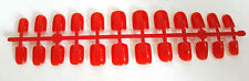 24 FULL COVER FALSE FAKE NAILS TIPS + GLUE RED COLOUR NAIL TIP