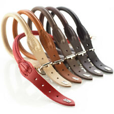Hunter Dog Collars round & Soft Elk Leather, Various Sizes & colours
