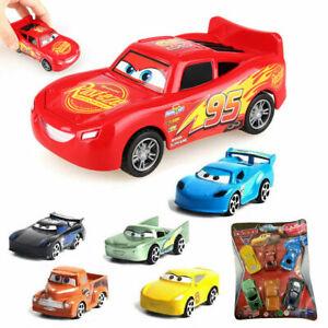 6PCS/SET Pull Back Cars Toy 3 Lightning Cruz PVC Cartoon Plastic Kids Boys Gift