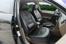 Leather like Car Seat Covers with Lumbar Support for Ford- FO 250Black