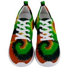 New Rasta Spiral Tie-Dye Jamaica Men's Athletic Sports Shoes Free Shipping