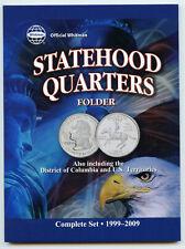Coin Folder State Quarter 1999 - 2009 Statehood Set DC Territories 8097 Whitman