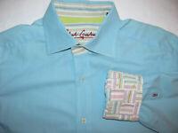Robert Graham Flip Cuff Long sleeve Light Blue Large