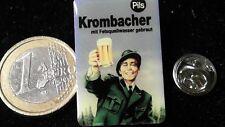 Bière beer pin badge Krombacher History... chasseur prost avec felsquellwasser brassée