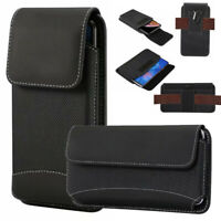 For Doogee all Mobile Phones Universal Nylon Belt Hook Pouch Case Holster Bag