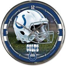 NFL Indianapolis Colts Horloge Murale Mur Horloge Chrome Montre Football