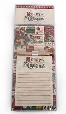 Santa Joyeux Noël Magnétique Mémo Note Pad Shopping List frigo Cuisine Cadeau