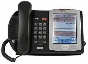 Fully Refurbished Nortel NTDU96BA70E6 i2007 IP Phone Bezel with POE (Charcoal)
