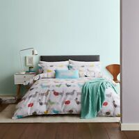 Catherine Lansfield Silly Sausage Dog Reversible Stripe Quilt/Duvet Cover Set