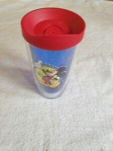 Walt Disney World Mickey Mouse Patch Kids Blue Tervis Tumbler 16 oz. Red Lid