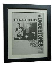 UNDERTONES+Teenage Kicks+POSTER+AD+RARE+ORIGINAL 1983+FRAMED+EXPRESS GLOBAL SHIP