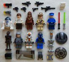 10 NEW LEGO STAR WARS MINIFIG LOT minifigure figure Han Solo R2-D2 mandalorian