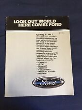1982 Ford Mustang LTD Escort Mustang Thunderbird Color Brochure Catalog Prospekt