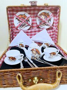 Reutter Porcelain Umbrella Girl  Dollhouse  Retired Tea Set For Two