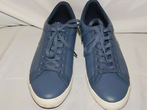 LACOSTE BLUE LEATHER SNEAKERS SIZE 9.5USA 8.5UK 42.5EUR