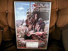 Vintage Savage Rifle & Ammunition Elk Hunting ad Poster Art Framed Picture Sign
