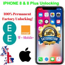 Factory Unlocking Service for IPhone 8 & 8 PLUS EE T-mobile Orange  Virgin BT UK