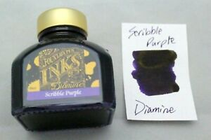 Diamine 80ml Fountain Pen Bottled Ink Scribble Purple