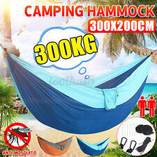 New listing Camping Double Hammock Outdoor Garden Hanging Swing Yard Nylon Chair Bed 10x7ft