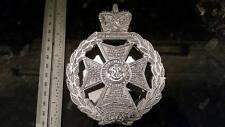 RGJ Capbadge Chrome Door Knocker, Royal Green Jacket, Rifleman, now Rifles