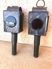n°6) ancienne lampe de calèche  /  paire de lanternes à bougie / vintage  FIACRE