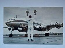AEREO AIRPLANE LUFTHANSA Airline AK old postcard Lockeed Constellation