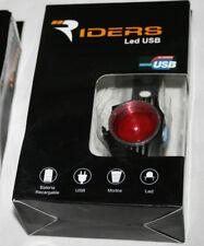 LUZ PARA BICICLETA U OTROS RIDER LED USB F52 PARA SEÑALIZAR, CARGA POR USB, 1ª
