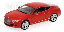 Minichamps 100 139922 Bentley Continental GT 2011 Red Diecast  Model Car 1:18