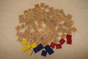 91 Vtg 1971 Scrabble RPM Letters Wood Tiles Board Game Replacement Pieces Crafts