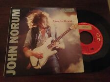 "JOHN NORUM SPANISH 7"" SINGLE SPAIN LOVE IS MEANT - HARD ROCK"