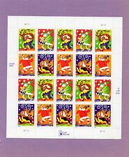 U.S. DEFINITIVE PANE OF 20 SCOTT#3824a 2003 37ct HOLIDAY MUSICMAKERS MNH P#S1111
