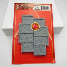Chooch Enterprises 9800 N Scale Stone Stepped Abutment Wall Package Of 2