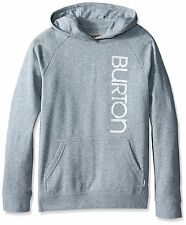 BURTON Girls Antidote Pullover Hoodie, Medium Gray Heather brand new with tags