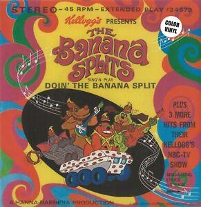 """THE BANANA SPLITS """"DOIN' THE BANANA SPLIT""""  45 RPM 7-INCH COLOR VINYL STEREO"""
