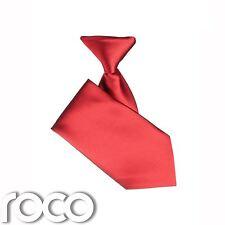Niños Rojo Elástico Corbata, Bebé Niño Corbatas Formales Para