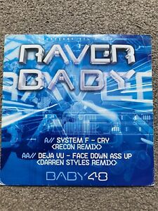 "System F Cry/ Face Down Ass Up 12"" Raver Baby 2007 Baby048 Uk Happy Hardcore"