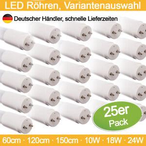 LED Röhren 25er Pack 60cm 120cm 150cm T8 Röhre Nanoröhre Lampe Leuchtstoffröhre