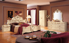 ESF Barocco Traditional Ivory Color Classic Italian Queen Size Bedroom Set